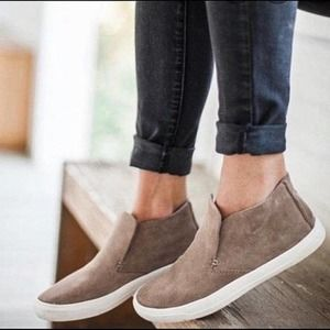 DV Roselyn Taupe Suede High Top Sneaker